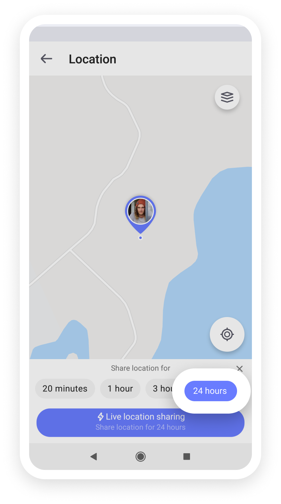Location sharing for 24 hours